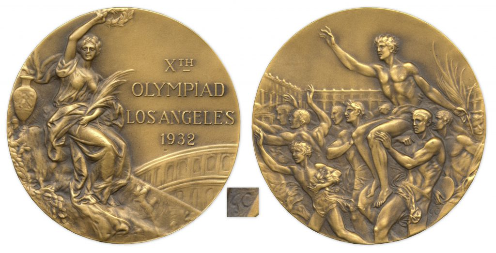 Bronze 1932 Los Angeles Olympics Medal