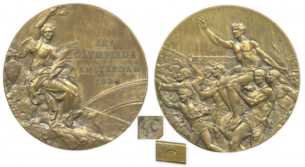 Bronze 1928 Amsterdam Olympics Medal