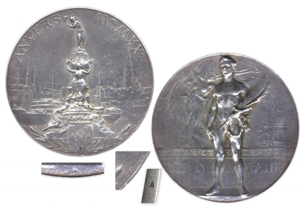 Silver 1920 Antwerp Olympics Medal