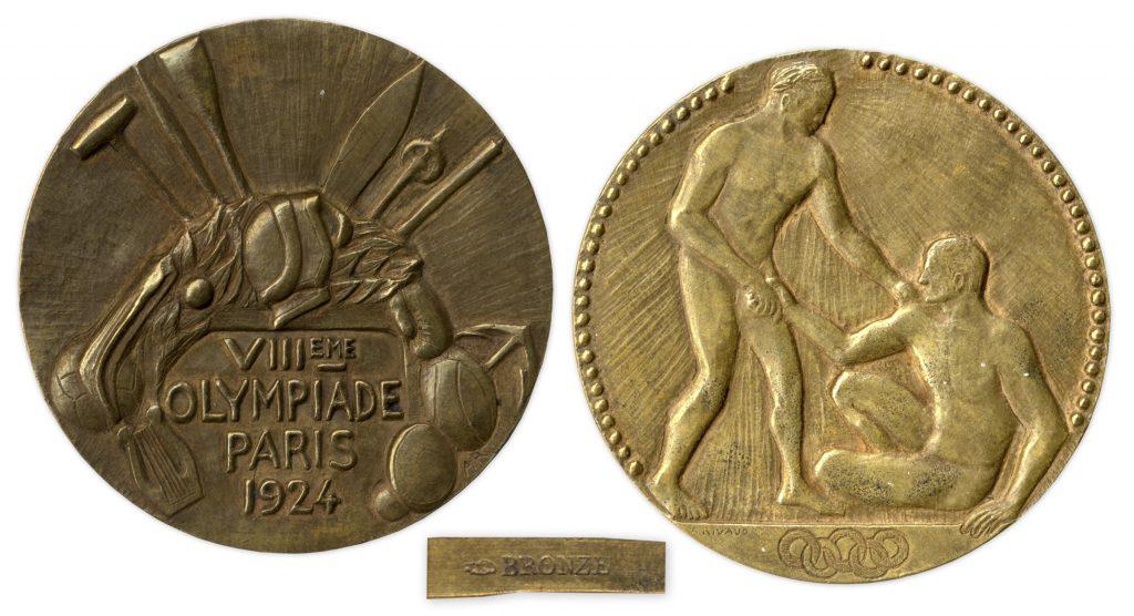 Bronze 1924 Paris Olympics Medal