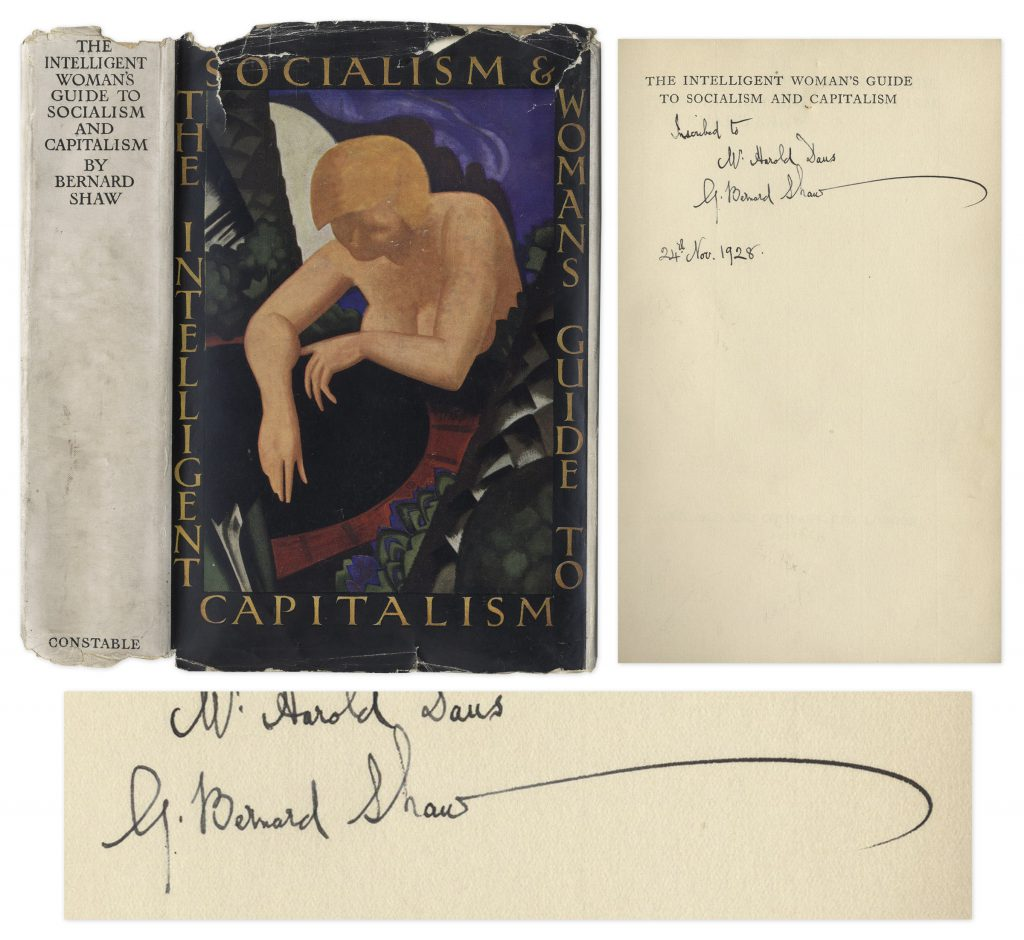 Intelligent Woman's Guide to Socialism and Capitalism signed book