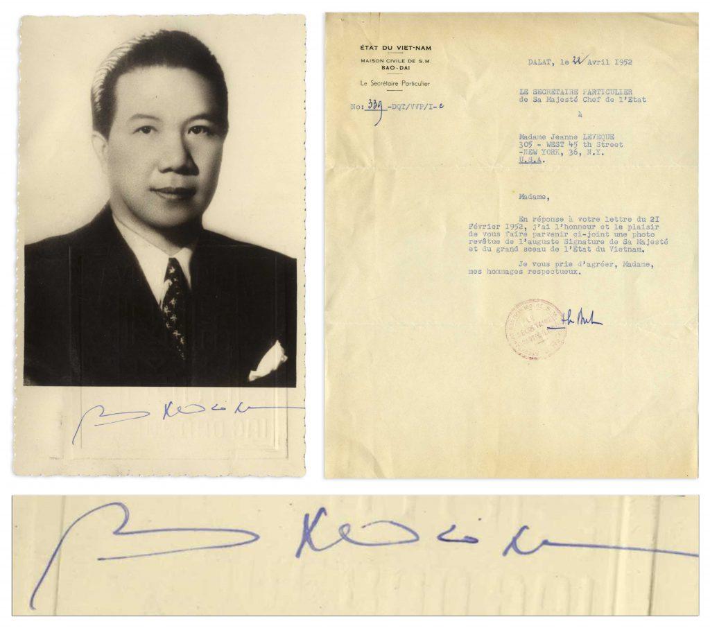 Bao Dai autograph