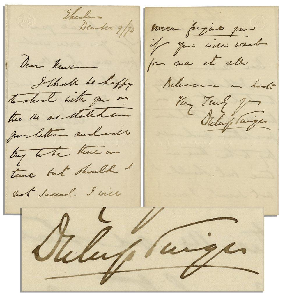 Maharaja Duleep Singh autograph