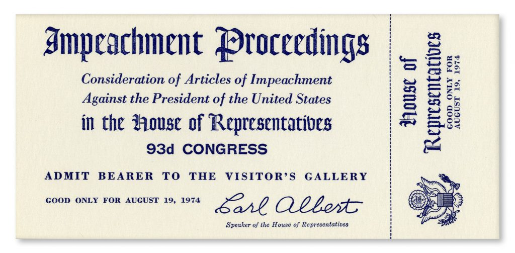 Richard Nixon impeachment ticket