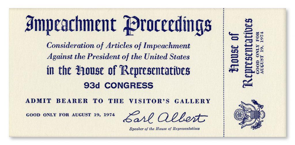 Richard Nixon impeachment ticket