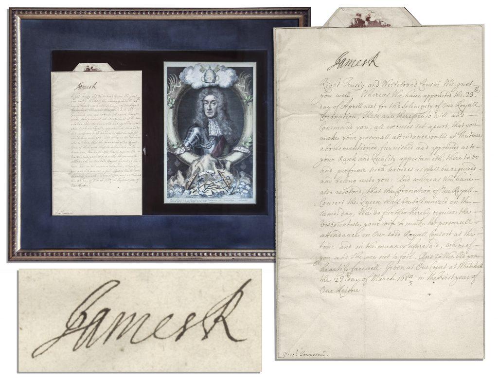 James II autograph