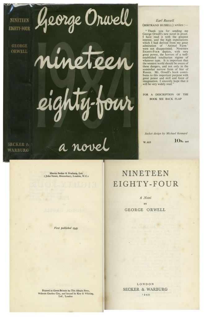 George Orwell Nineteen Eighty Four 1st edition
