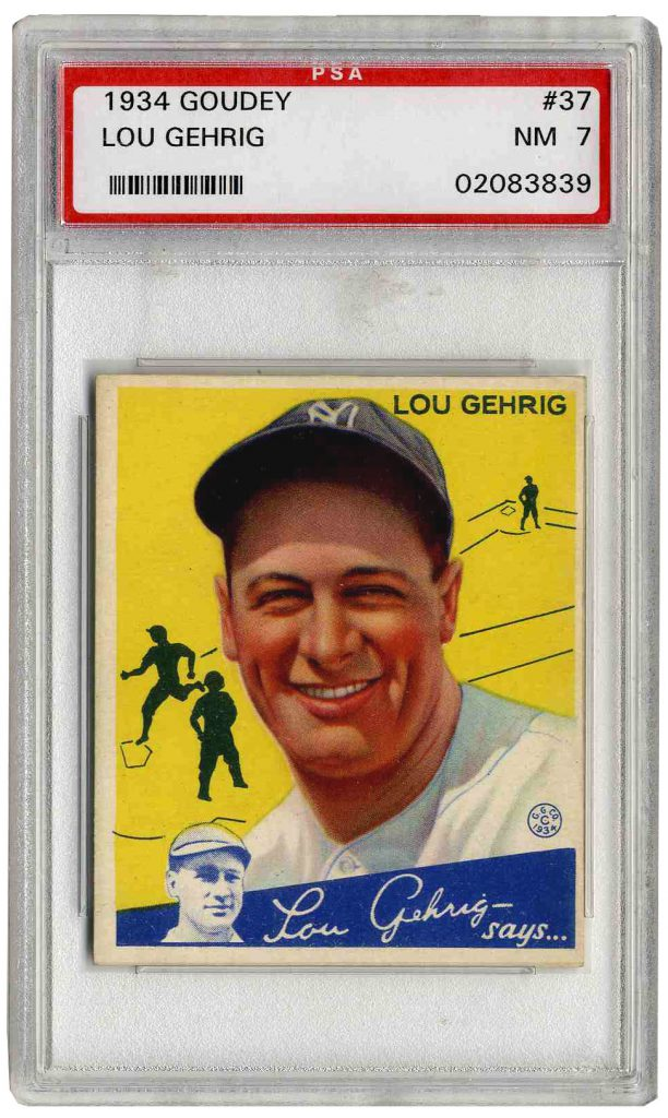 1925 Exhibits Lou Gehrig PSA
