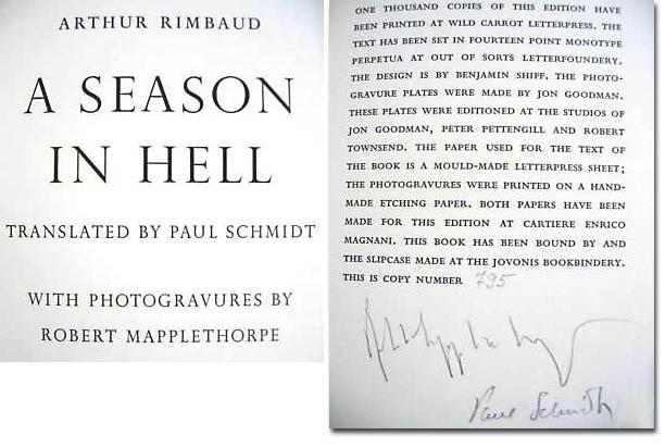 Robert Mapplethorpe autograph