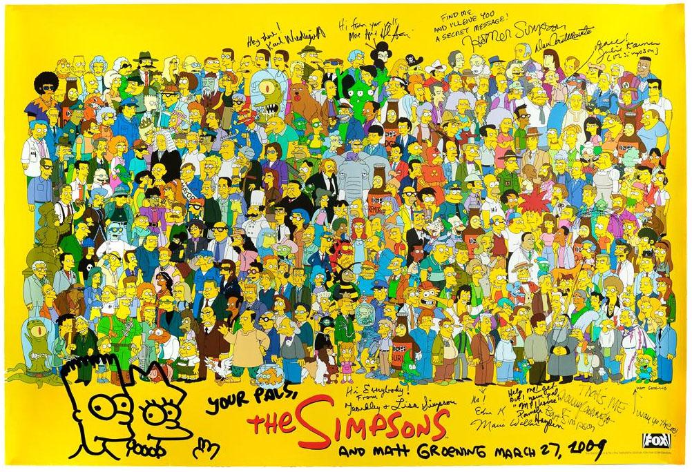 Simpsons autographs