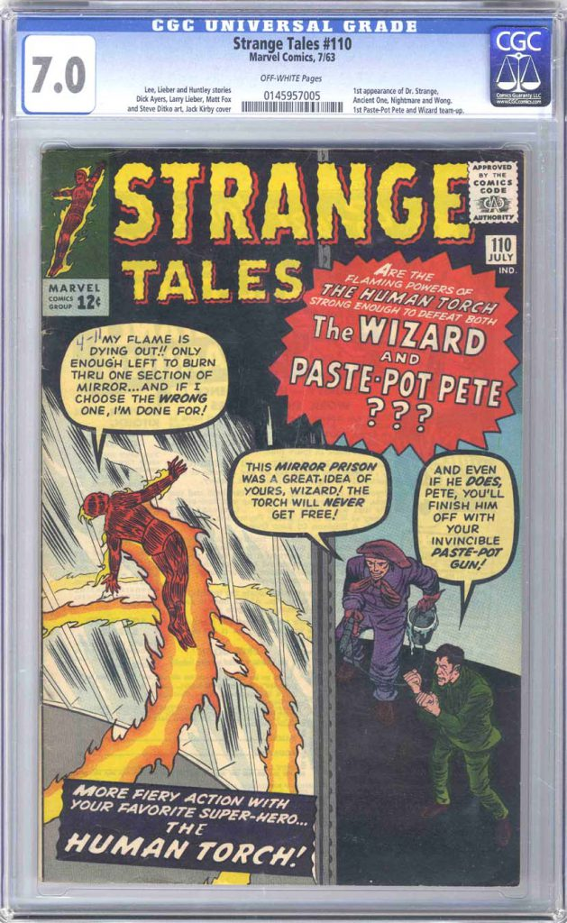 Marvel Comics Strange Tales 110 CGC 7.0