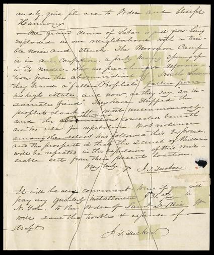 Joseph Smith Autograph