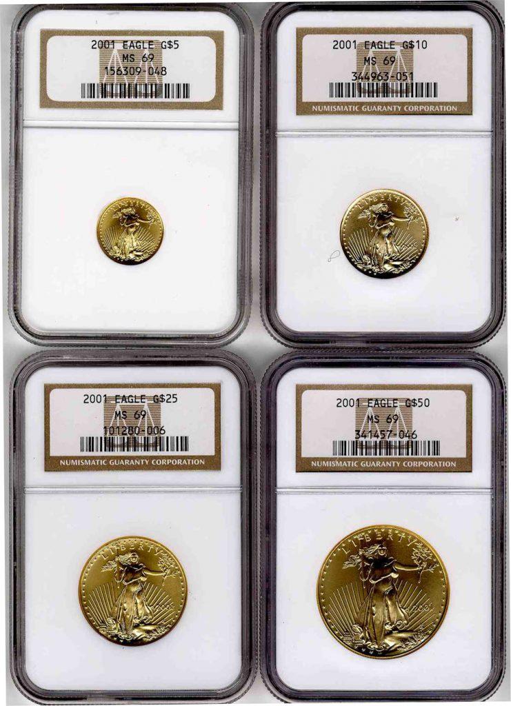 2001 Eagle Gold Coin Set