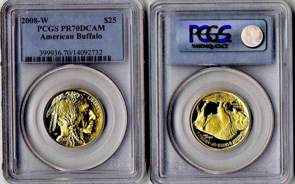 2008 W Buffalo Gold Coin $25 PCGS PR70 DCAM