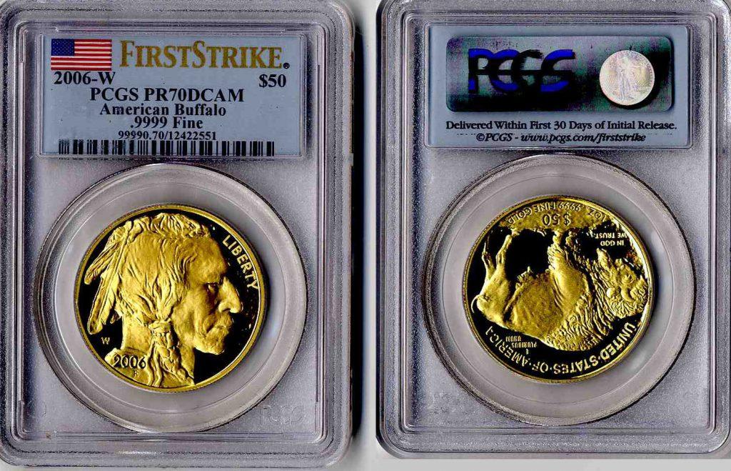 2006 W Buffalo Gold Coin $50 PCGS PF 70 DCAM