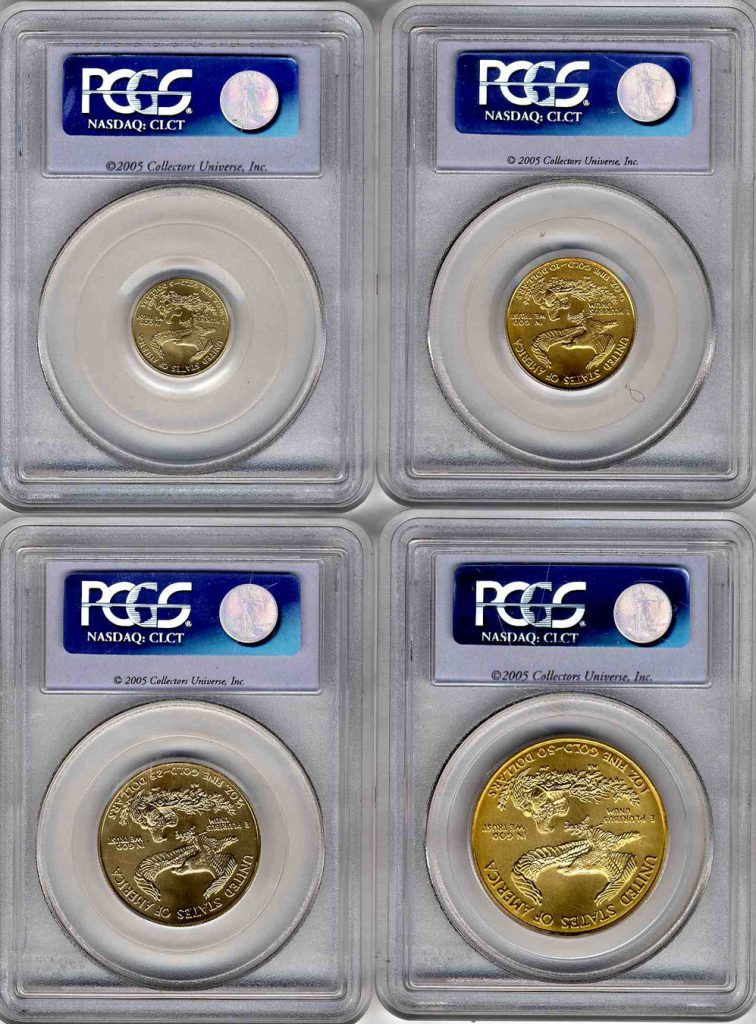 2005 Gold Eagle Set 20th Anniversary PCGS MS69