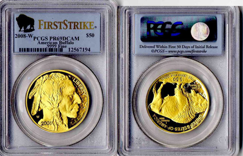 2008 W Buffalo Gold Coin $50 PCGS PR69 DCAM First Strike