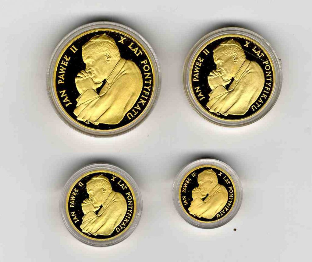 1988 Poland John Paul II Gold Coin Set