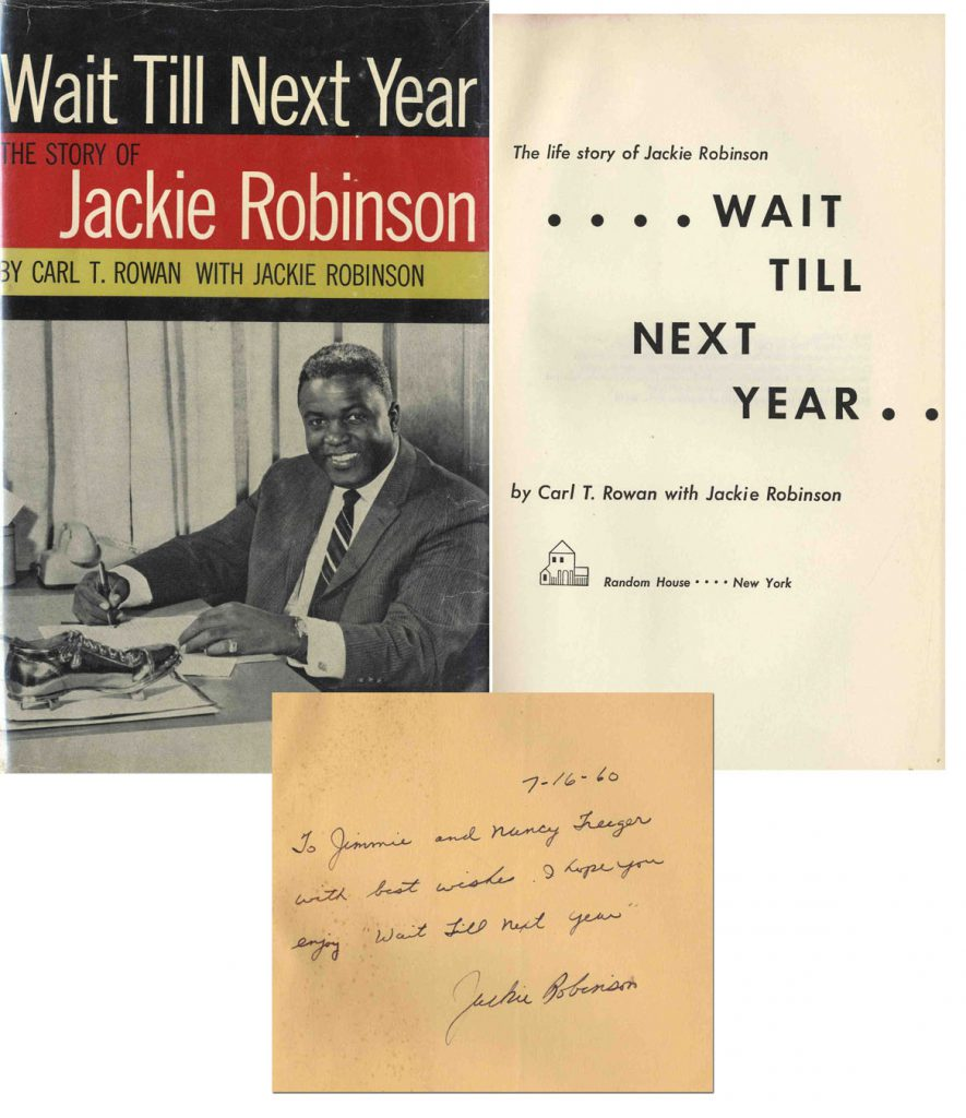 Jackie Robinson Wait Till Next Year Signed