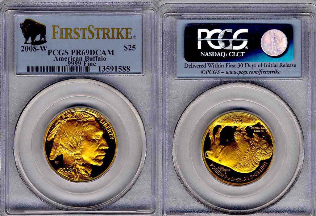 2008 W American Buffalo Gold Coin $25 PCGS PR 69 DCAM First Strike
