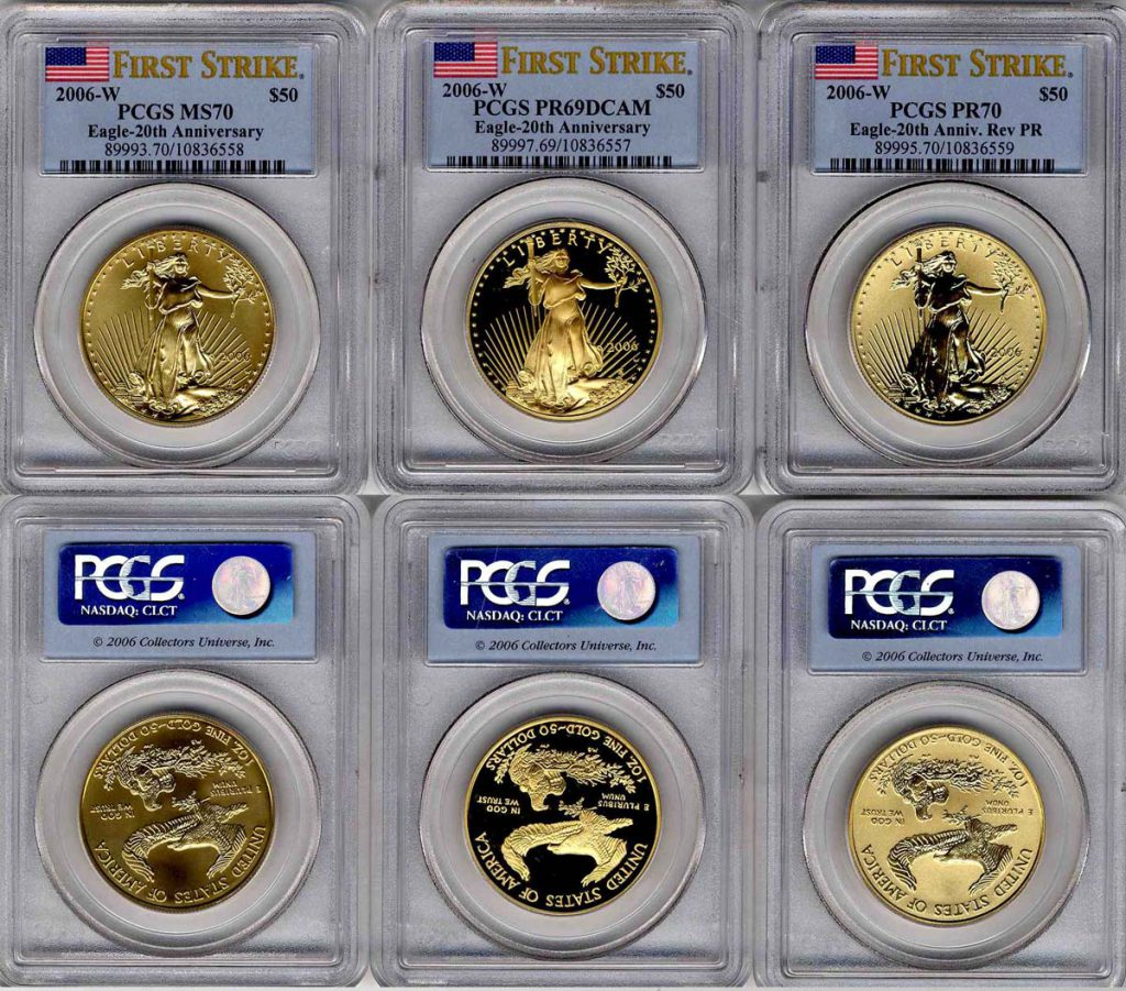2006 American Eagle 20th Anniversary Gold Coin Set