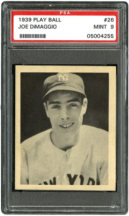 1939 Play Ball 26 Joe DiMaggio PSA 9