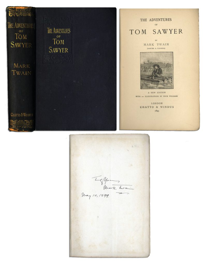 Mark Twain Tom Sawyer signed book