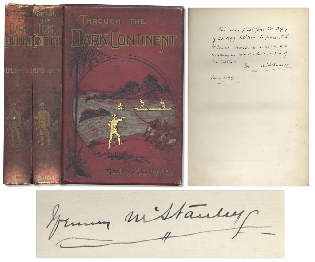 Henry Stanley Dark Continent signed