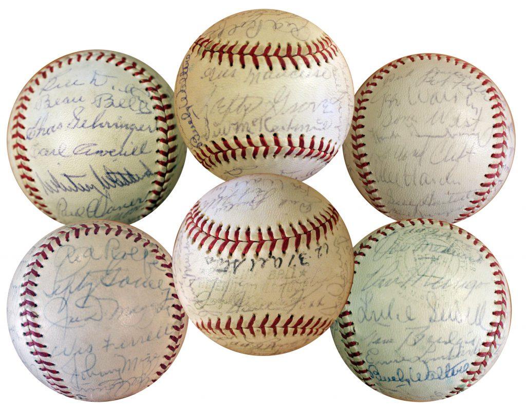 1937 American League All Star signed baseball