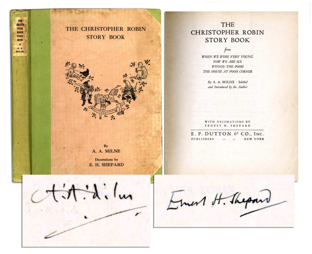 AA Milne autograph