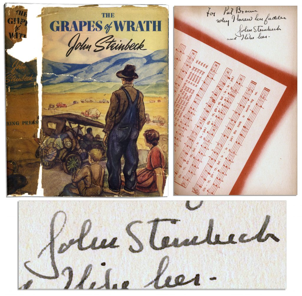 John Steinbeck Grapes of Wrath 1st edition