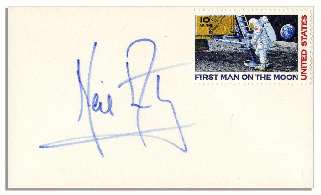 Apollo 11 philatelic signed