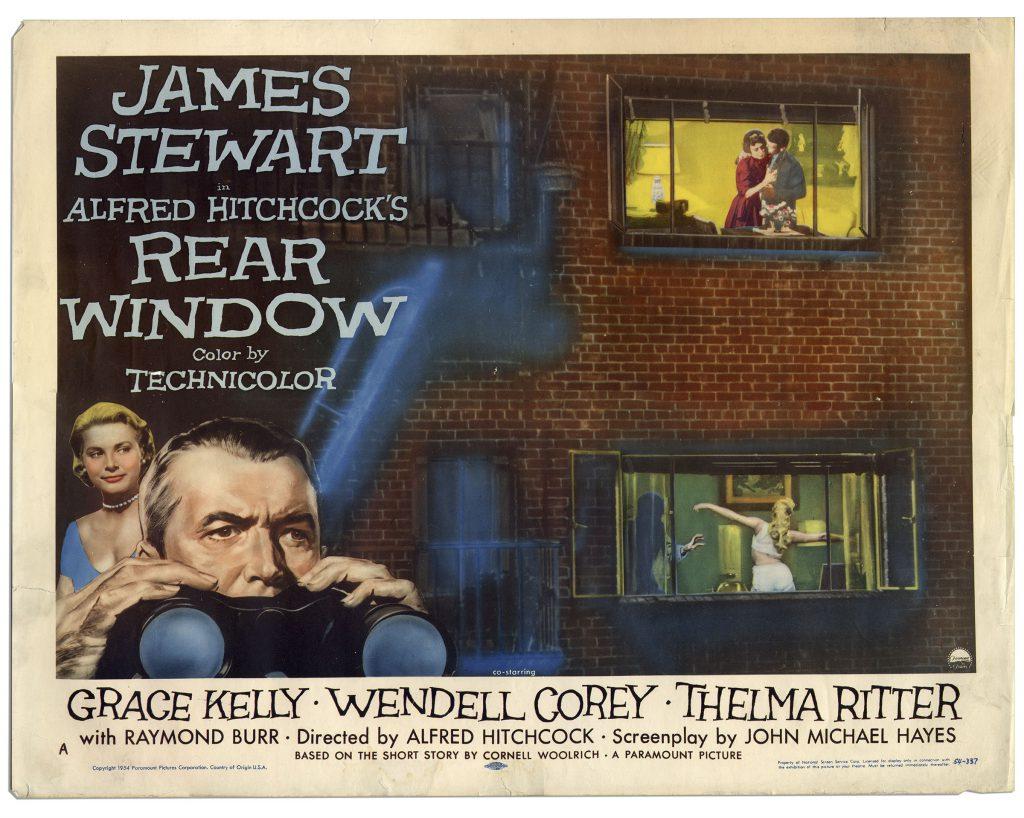 Alfred Hitchcock Rear Window lobby card