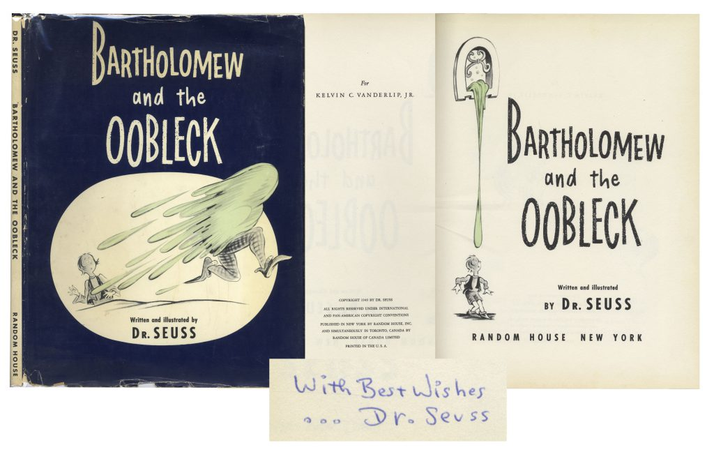 Dr Seuss Bartholomew and the Oobleck 1st edition