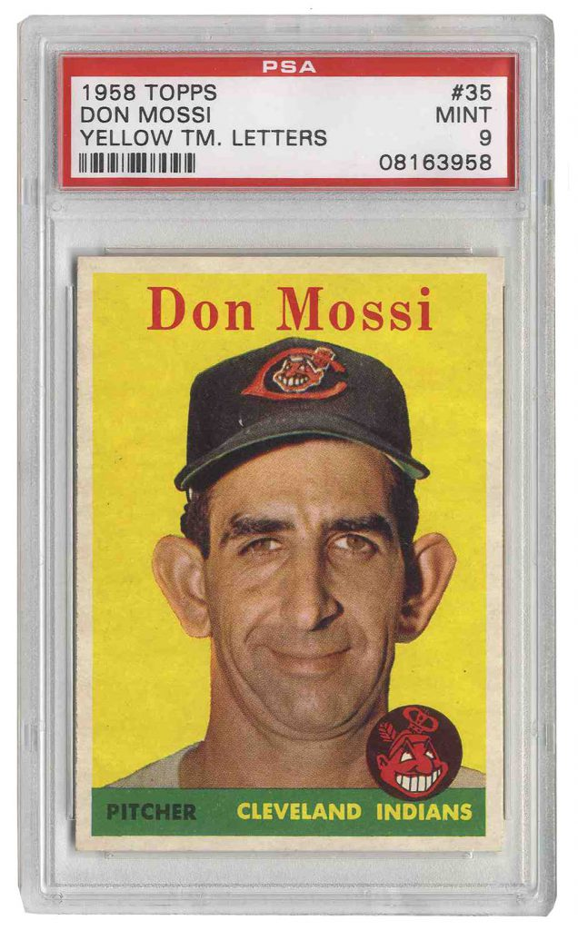 1958 Topps Don Mossi 35 PSA 9