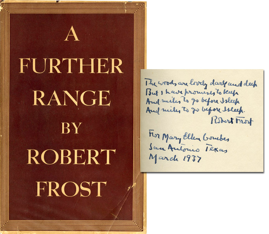 Robert Frost autograph with poem