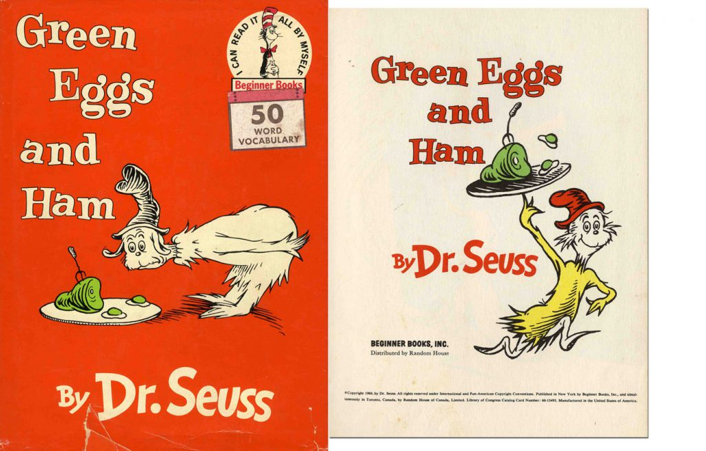 Dr Seuss Green Eggs and Ham 1st edition