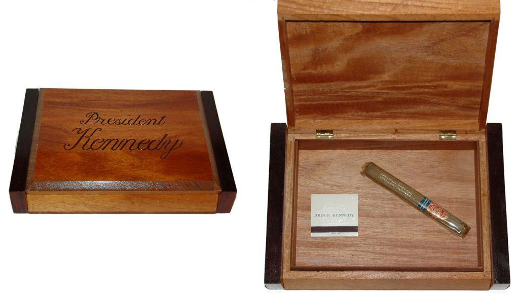 John F Kennedy cigar box