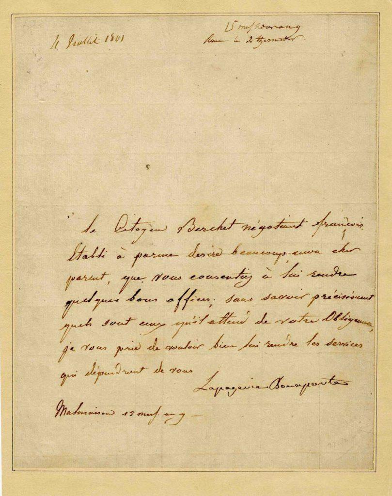 Josephine Bonaparte autograph