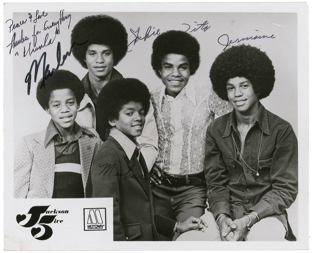 Michael Jackson 5 autographs