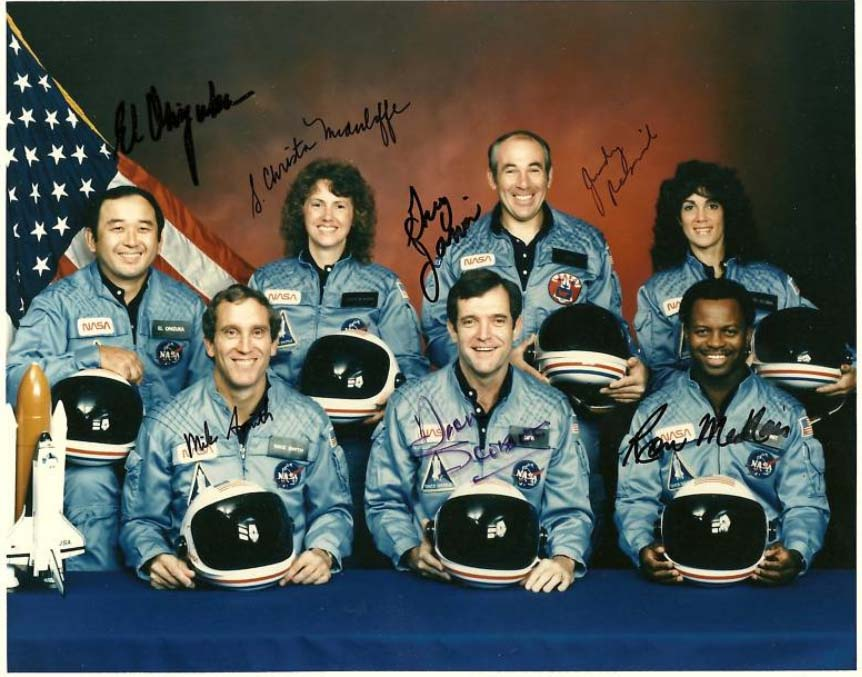 STS-51L Challenger autographs