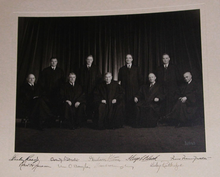 Harlan Stone Supreme Court signed photo