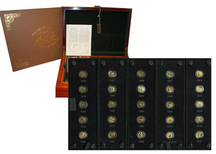1982-2007 25th Anniversary Panda Gold Coin Proof Set