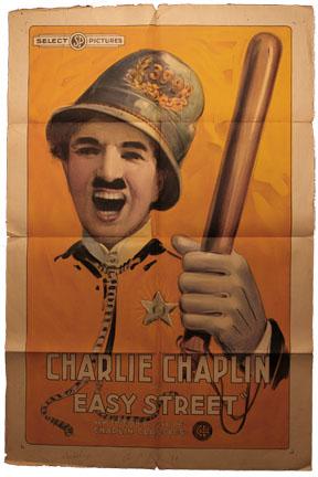 Charlie Chaplin Easy Street poster