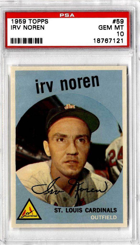 1959 Topps Irv Noren 59 PSA 10