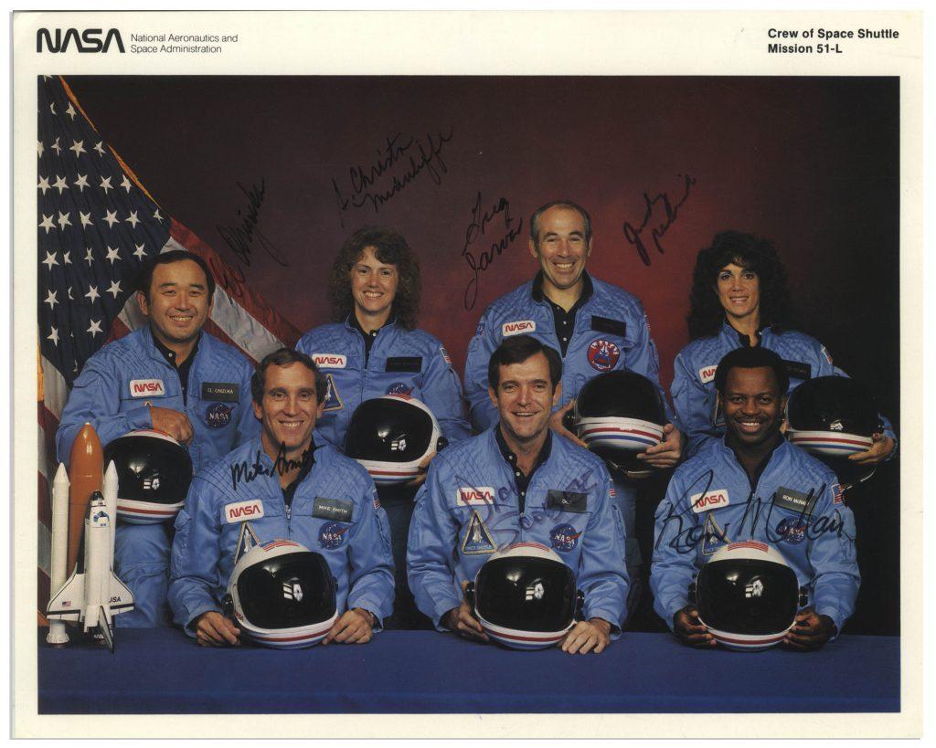 STS-52L Challenger autographs
