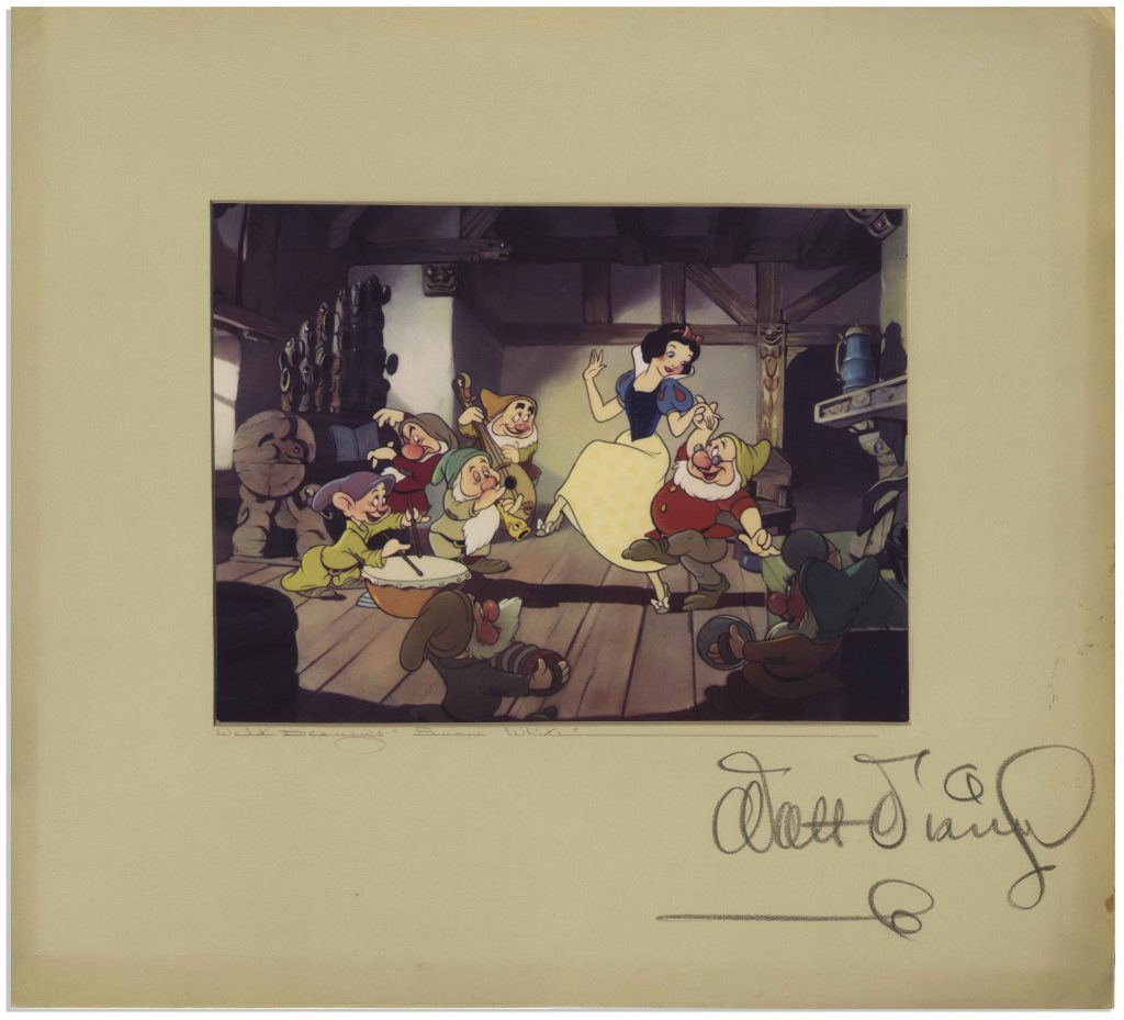 Walt Disney Snow White dye transfer print signed