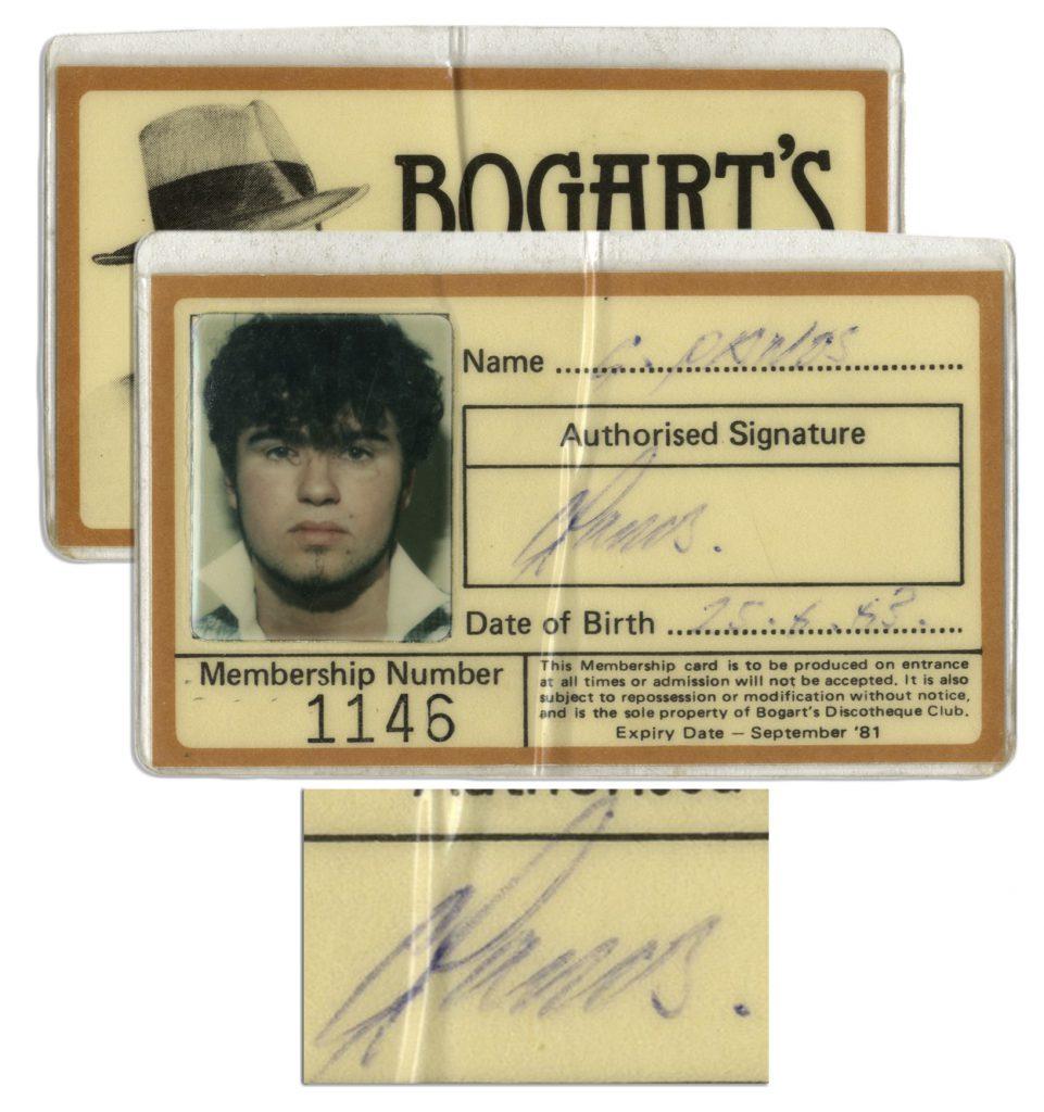 George Michael autograph