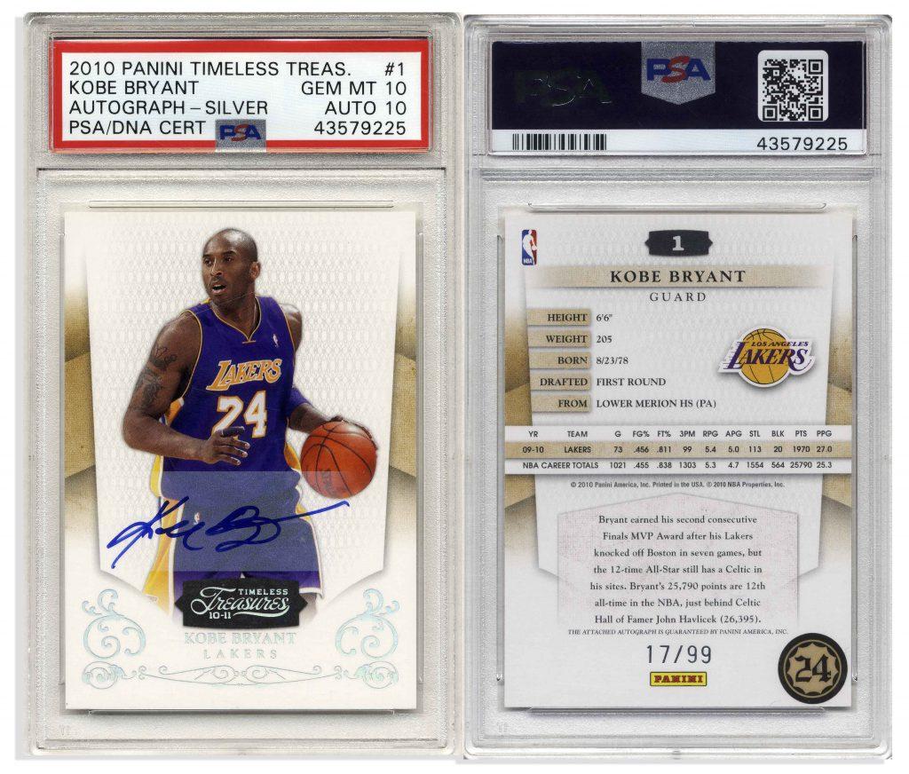 2010 Panini Kobe Bryant Timeless Treasure Autograph #1 PSA 10