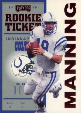 1998 Playoff Contender Rookie Ticket Peyton Manning #87 PSA 10